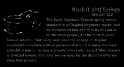 Acheter Paire de ressorts pour trucks Original noir