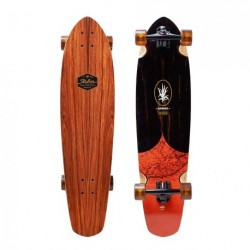 "Acheter Longboard Arbor Mission Groundswell Series 'Map' 35"" Wood/Black/Orange"