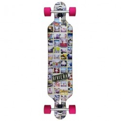 "Acheter Longboard Riviera Mosaic Drop Through 8.6"" Multi/Pink"