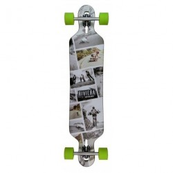 "Acheter Longboard Riviera Ride Free Drop Through 8.6"" Grey/Green"