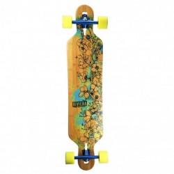"Acheter Longboard Riviera Water Blossoms 8.6"" Wood/Blue/Yellow"