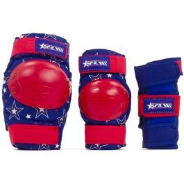 Pack de protections SFR bleu/rouge pour enfant