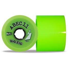 Set de roues Abec 11 bigzig reflex couleur 75mm