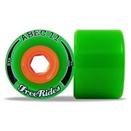 Set de roues Abec 11 freerides 66mm