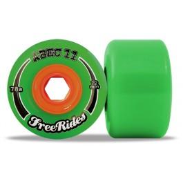 Set de roues Abec 11 centerset freerides 72mm
