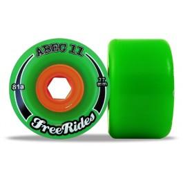 Set de roues Abec 11 freerides 77mm