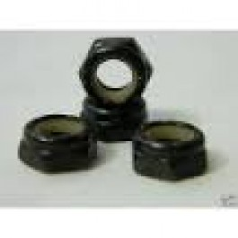 Axle nuts Bulk black x 4