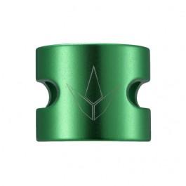 Double collier de serrage Blunt Twin Slit vert