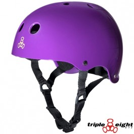 Casque Triple 8 brainsaver double certification Violet