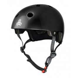 Casque Triple 8 brainsaver double certification noir gloss