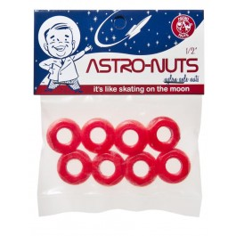 Ecrous d'essieu Astro-nuts rouges X8