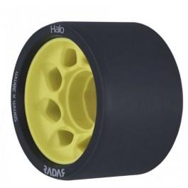 Roues Radar Halo 59mm/91a noir/jaune X4