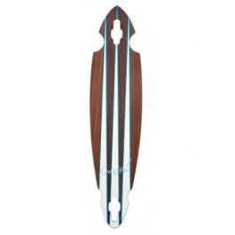 Deck Longboard Koastal Blue Fin 8.75'' Wood/White