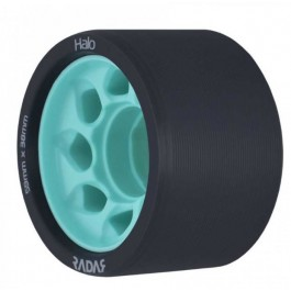 Roues Radar Halo 59mm/88a noires/teal X4
