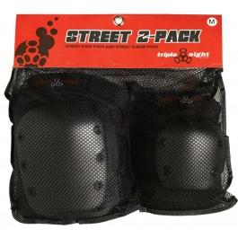 Pack de Protections Triple 8 Street 2 genoux et coudes