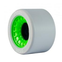 Roues Radar Presto Highliter 59mm/99a grises/vertes X4