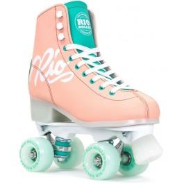 Rio Roller Script Quad Skates Rose