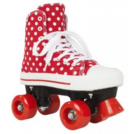 Roller Quad Rookie Canvas High polka dots