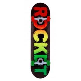 Skateboard Complete Rocket Rasta Fade