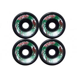 roues BigFoot Paradise noires 70mm 78a