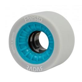 Roues Radar Presto Highliter 59mm/95a grises/bleues X4