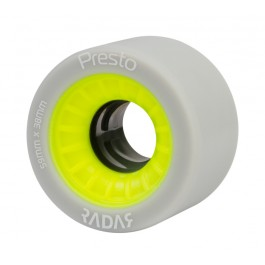 Roues Radar Presto Highliter 59mm/91a grises/jaunes X4