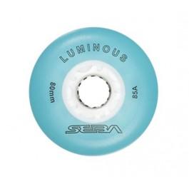 Roue Seba Luminous bleu (80 mm en expé 48h)