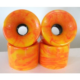 Set de roues Tunnel Tarantula 70mm/78a STR racing orange swirl