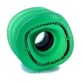 Set de roues Shark Wheel Sidewinder 70mm 78a vert translucide