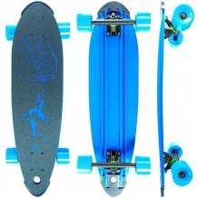 "Longboard Beercan Boards Pin Tail 30"" Bleu"