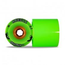 Set de roues Abec11 Centrax HD 75mm vert