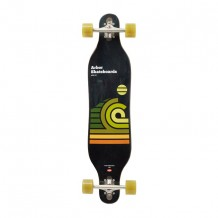 "Longboard Arbor Axis 'Artist Series Draplin' 37"" Black/Yellow"