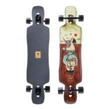 "Longboard Arbor Catalyst Artist Collection 'Hablak' 41"" Black/Wood/White"