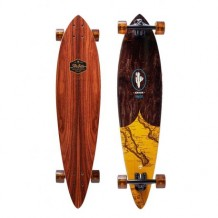 "Longboard Arbor Fish Groundswell Series 'Map' 37"" Wood/Black/Yellow"