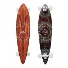 "Longboard Arbor Fish Solstice Collection 37"" Wood/White"