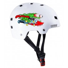 Casque Bullet x Santa Cruz Helmet Slasher Junior Blanc