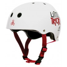 Casque Triple 8 Little Tricky Junior blanc