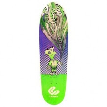 "Deck Comet Shred 32""x9"" Purple/Green"