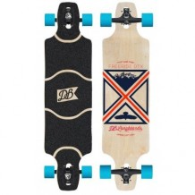 "Longboard DB Longboards Freeride DTX 38"" Black/Red/Blue"