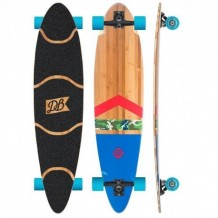 "Longboard DB Longboards 42"" Anthem Bamboo Green/Red/Blue"