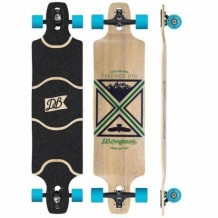 "Longboard DB Longboards Freeride DTX 41"" Black/Green/Blue"