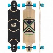 """Longboard DB Longboards Freeride DTX 41"""" Black/Green/Blue"""