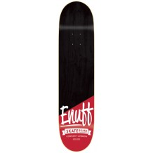 "Deck Enuff Dip Stained 8.25""x32.125"" Black/Red"