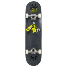 "Skate Enuff Skully 7.25""x29.5"" Grey/White"