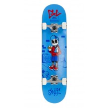 "Skate Enuff Skully 7.25""x29.5"" Blue/White"