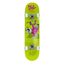 "Skate Enuff Skully 7.25""x29.5"" Green/White"