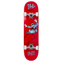 "Skate Enuff Skully 7.25""x29.5"" Red/White"