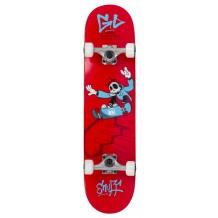 "Skate Enuff Skully 7.25""x29.5"" Red/White"