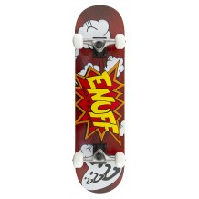 "Skate Enuff POW 7.75""x31"" Red/White"