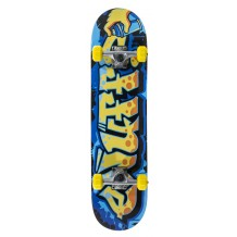 "Skate Enuff Graffiti II 7.25""x29.5"" Blue/Yellow"